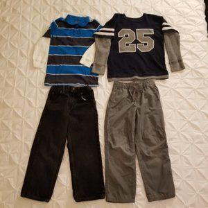 Wrangler & Gymboree Pants & knit Top Bundle